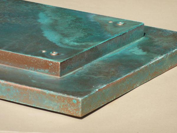 Barniz matérico con efecto óxido de cobre con oxidación real
